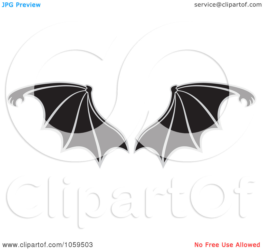 1080x1024 Bat Wings Clipart