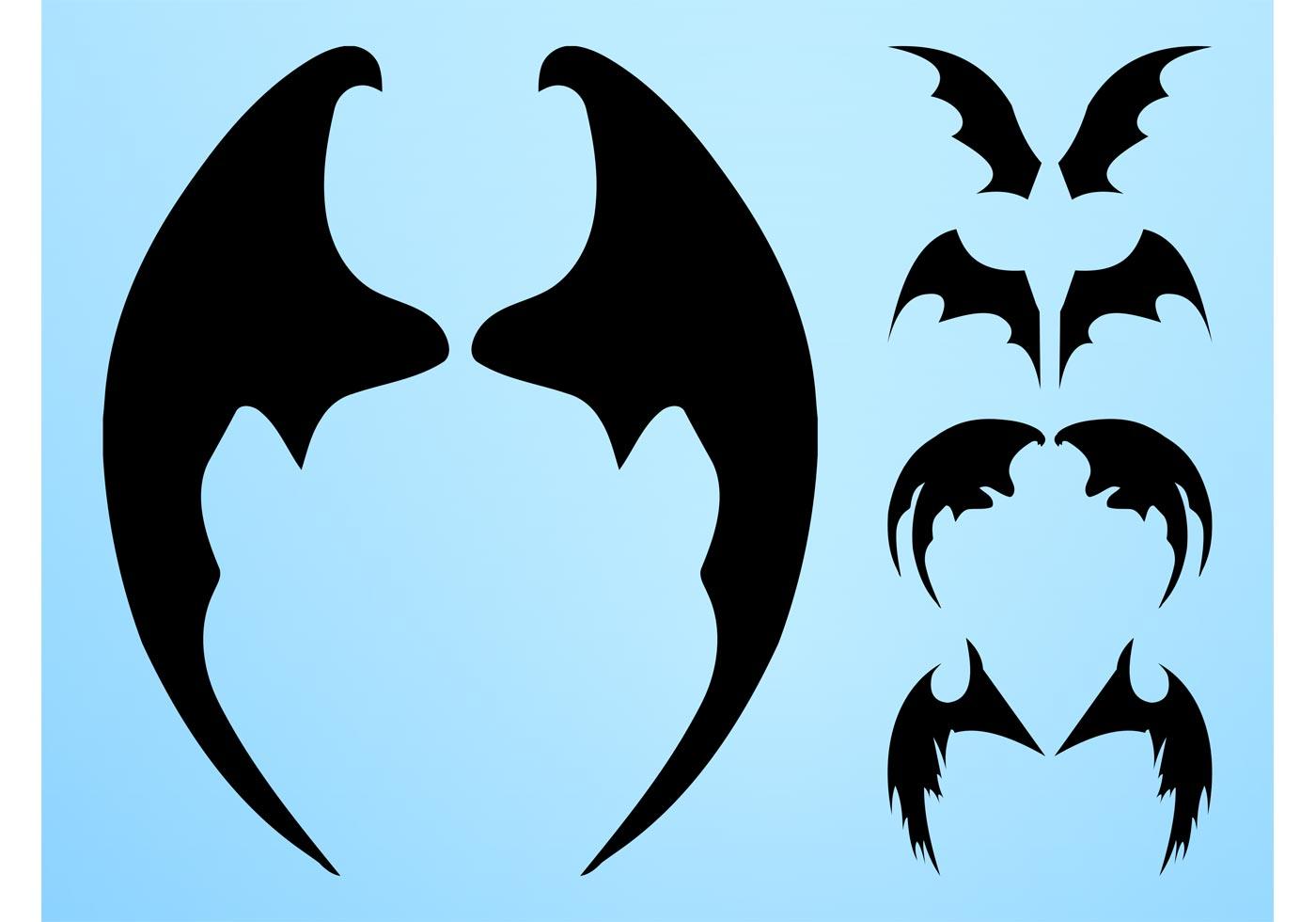1400x980 Bat Wings Free Vector Art