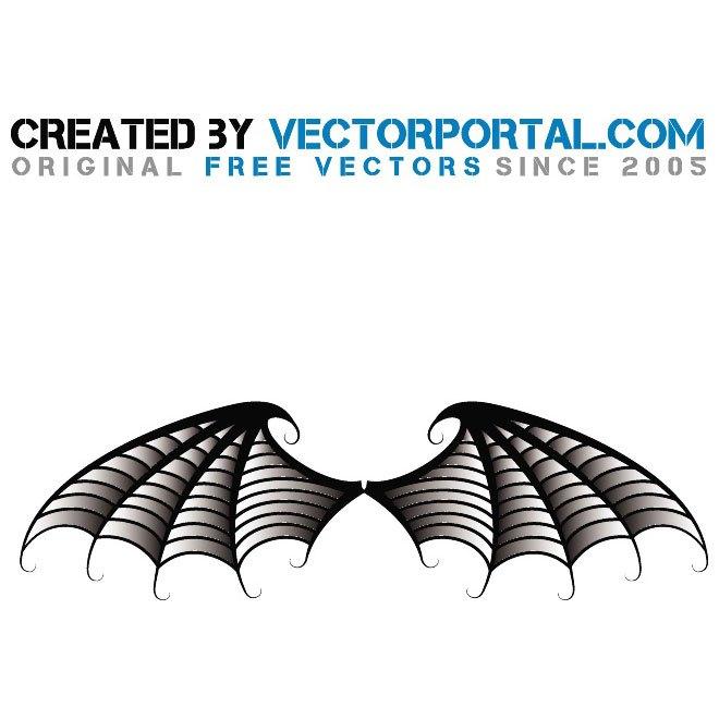660x660 Bat Wings Illustration Free Vector 123freevectors