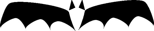 600x121 Bat Clipart Bat Wing