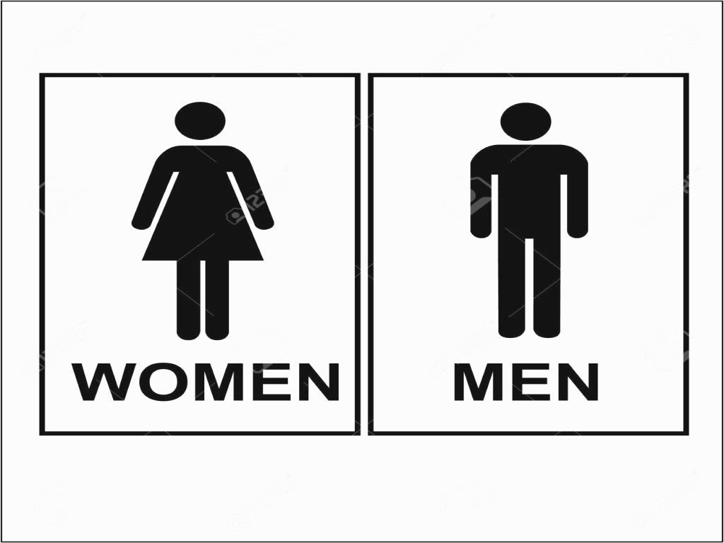 Bathroom Sign Vector