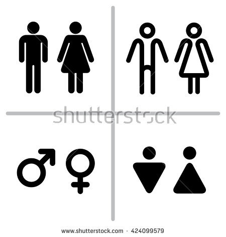 450x470 Miraculous Male Female Bathroom Sign Male Fema