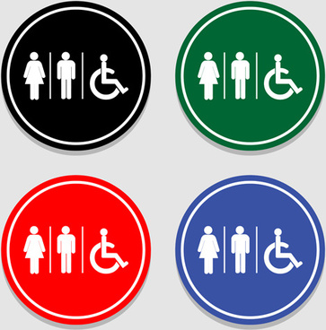 363x368 Toilet Signs Vector Free Vector Download (7,399 Free Vector) For