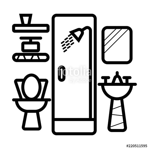 500x500 Bathroom Icon Vector. Stock Image And Royalty Free Vector Files