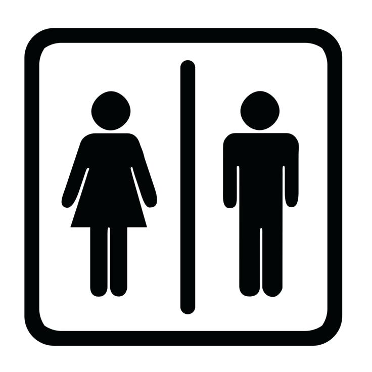 736x736 Bathroom Sigh Symbol Vector Free Sign Out Sheet