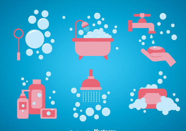 632x443 Bathroom Vector Sets Free Vector Download 361183 Cannypic