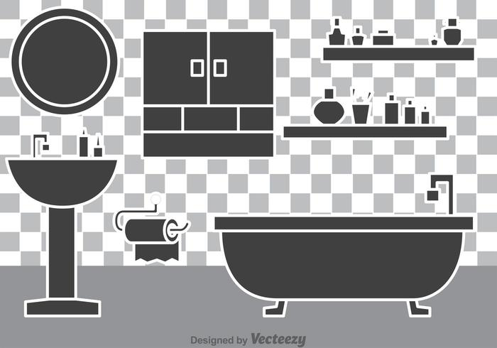 700x490 Bathroom Vectors