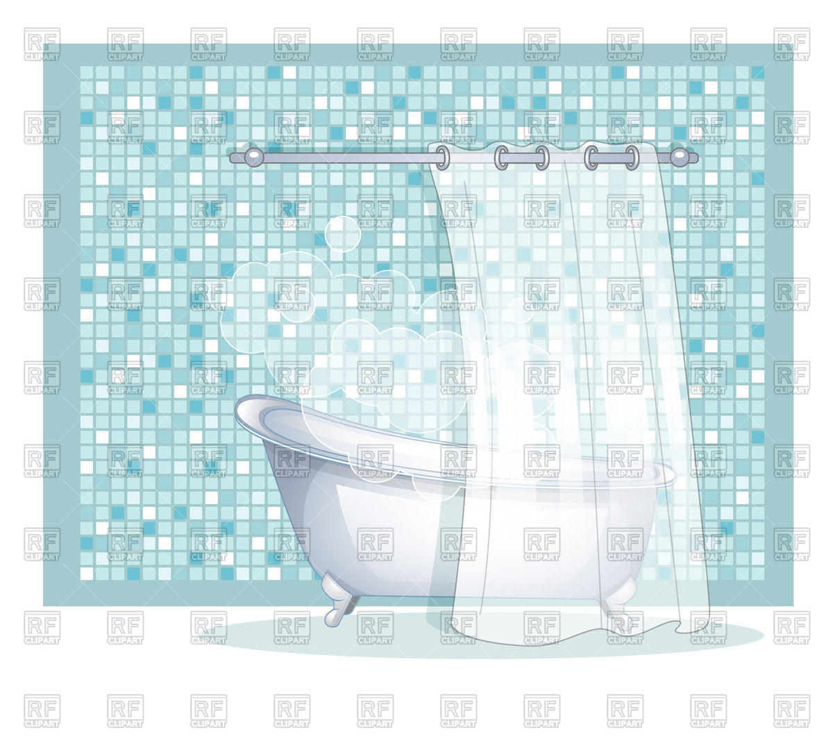 1200x1064 Bathroom With Bath Vector Image Vector Artwork Of Objects