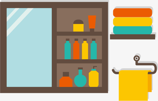 650x418 Apartment Bathroom Vector, Vector, Bathroom Cabinet, Mirror Png