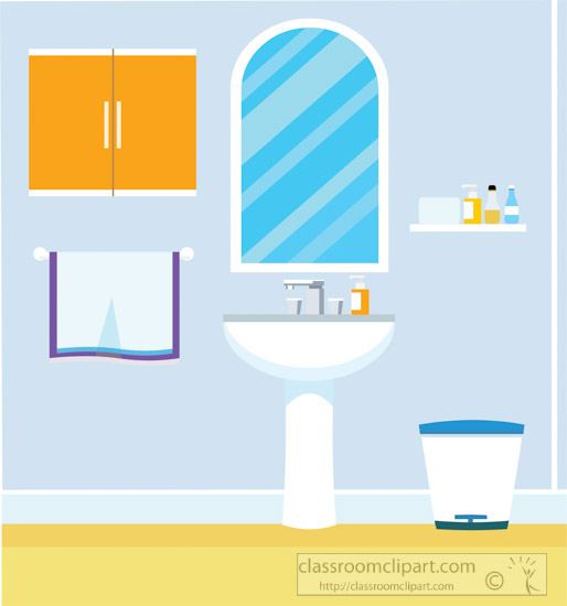 514x550 Home Clipart Illustration Of Wash Basin Bathroom Vector Clipart 2