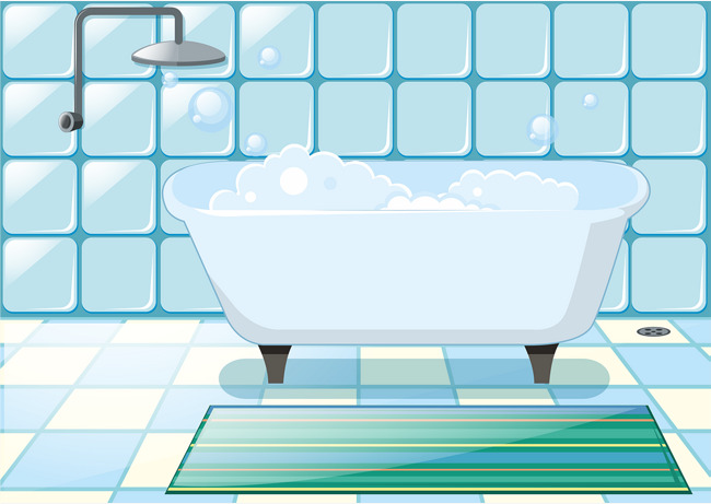 650x461 Lovely Bathroom Vector, Blue, Fresh, Refreshing Png And Vector For