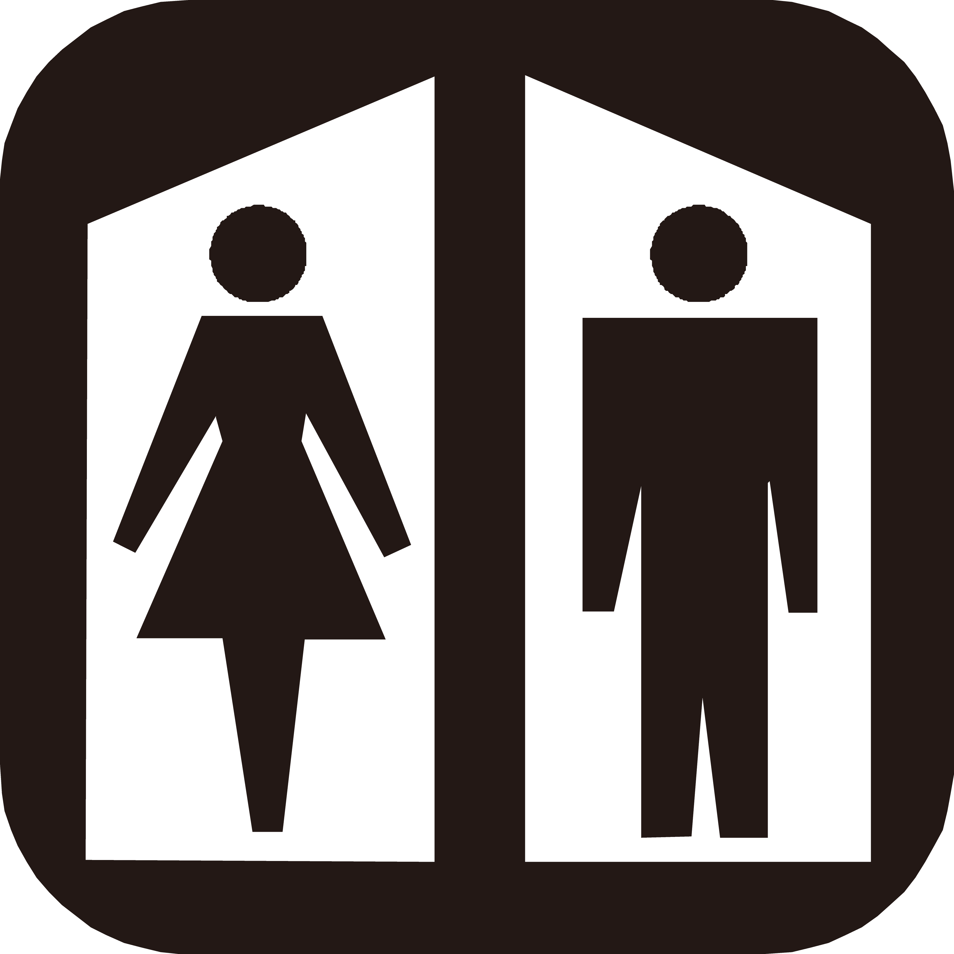 3887x3887 Public Toilet Flush Toilet Sign Bathroom