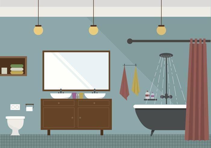700x490 Vector Bathroom Illustration