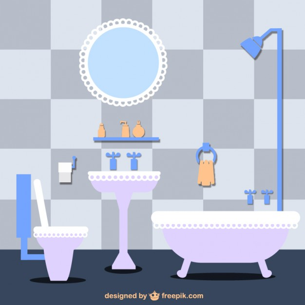 626x626 Violet Bathroom Vector Free Download