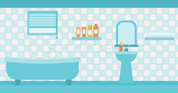 600x313 Background Of Private Bathroom. Vector Illustration Andrei