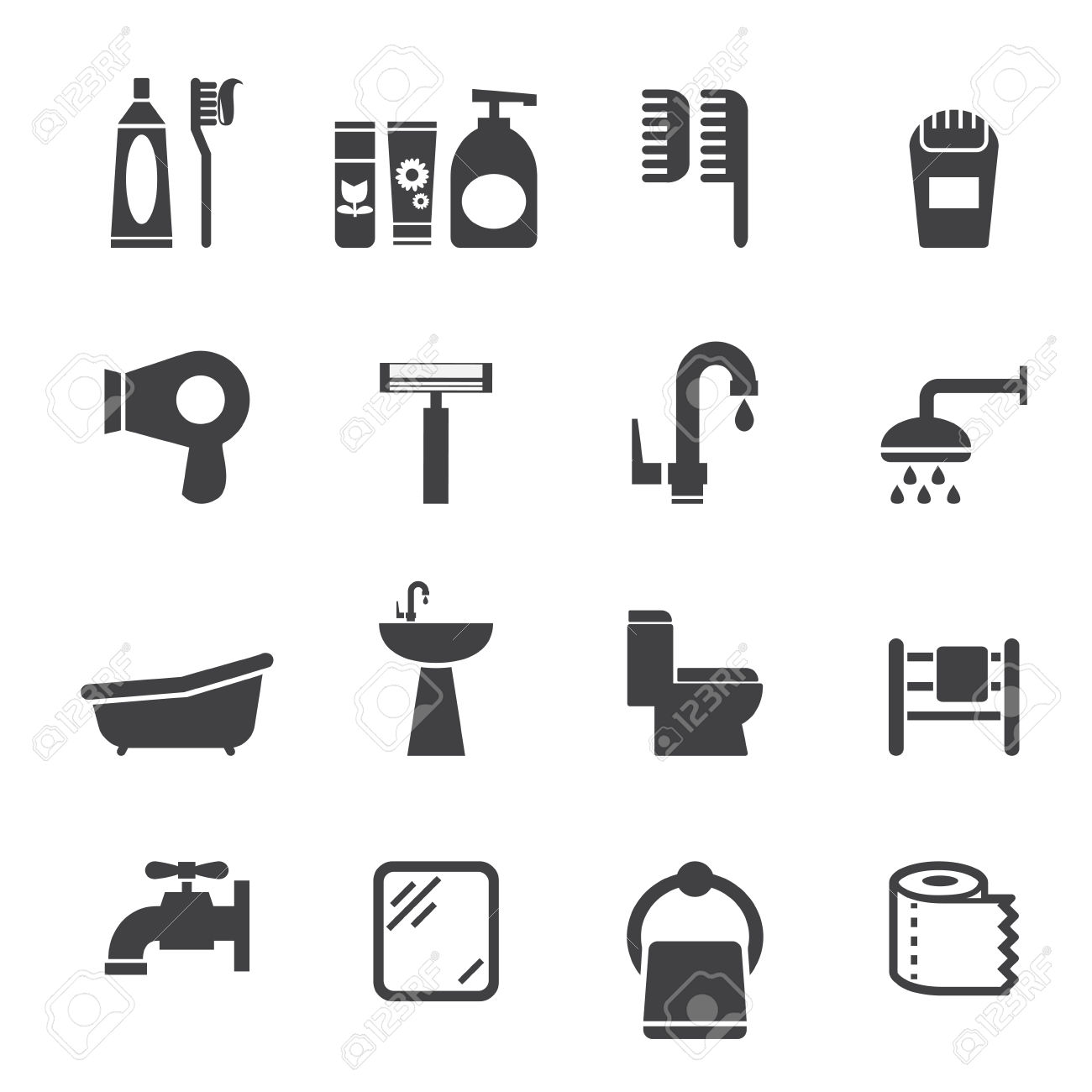 1300x1300 Bathroom Icons Clipart (72 ), Bathroom Icons Vector