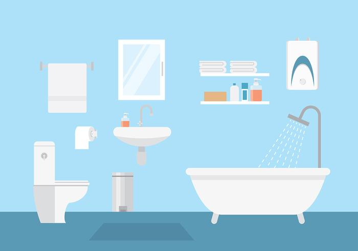 700x490 Bathroom Layout Vector