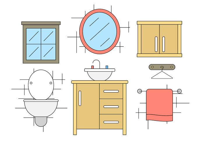 700x490 Bathroom Vector Icons