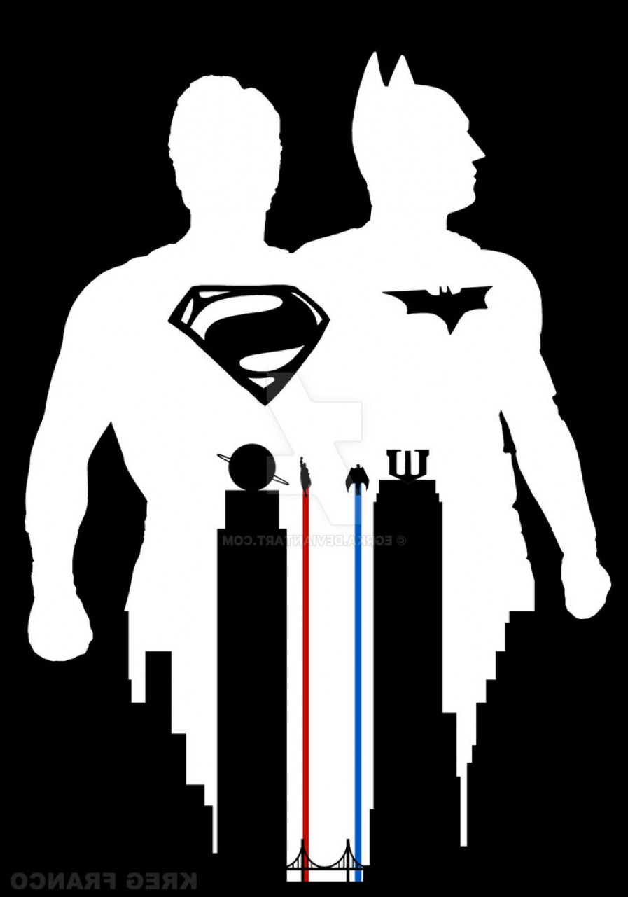 897x1281 Superman Vs Batman Fan Poster Or World S Finest Shopatcloth