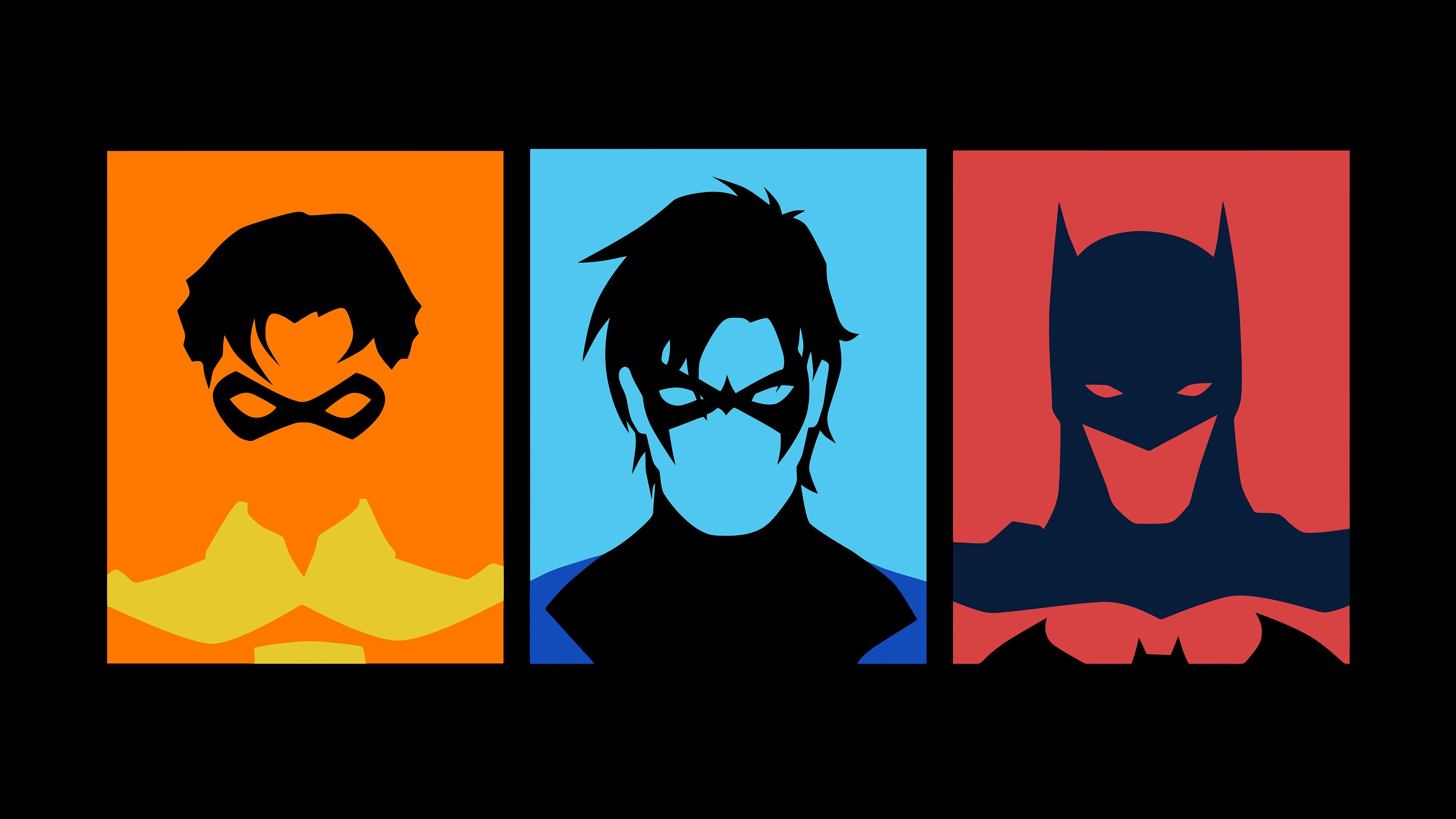 3840x2160 Robin, Nightwing, Batman (Vector) [3840 X 2160]