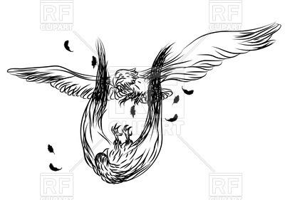 400x281 Outlines Of Flying Eagles In Battle Vector Image Vector Artwork