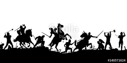500x250 Battle Scene Silhouette Stock Image And Royalty Free Vector Files
