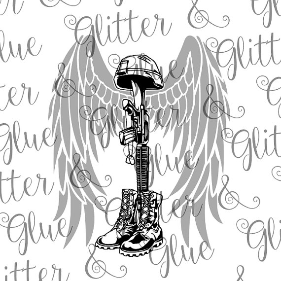 570x570 Battlefield Cross With Angel Wings For Military Veteran Svg File