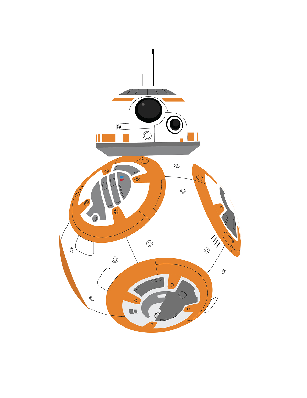 1200x1553 Collection Of Bb8 Clipart High Quality, Free Cliparts