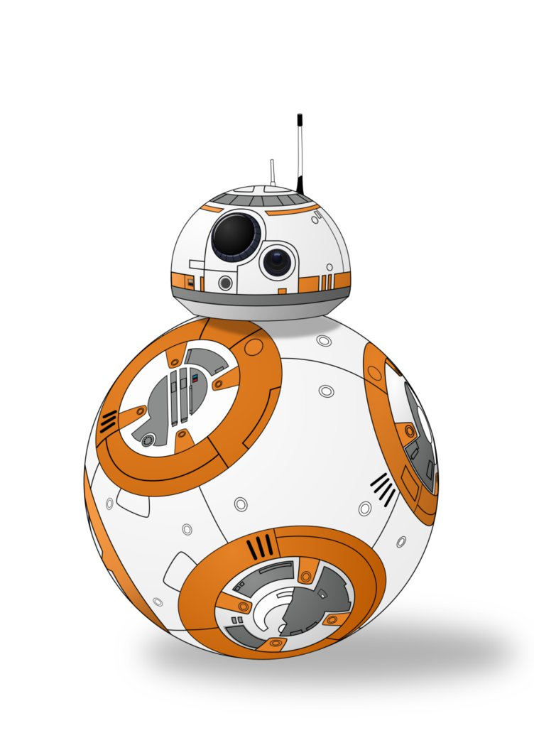 752x1063 Lux Brush Vector Art Bb8 From The Force Awakens By Alixnight On