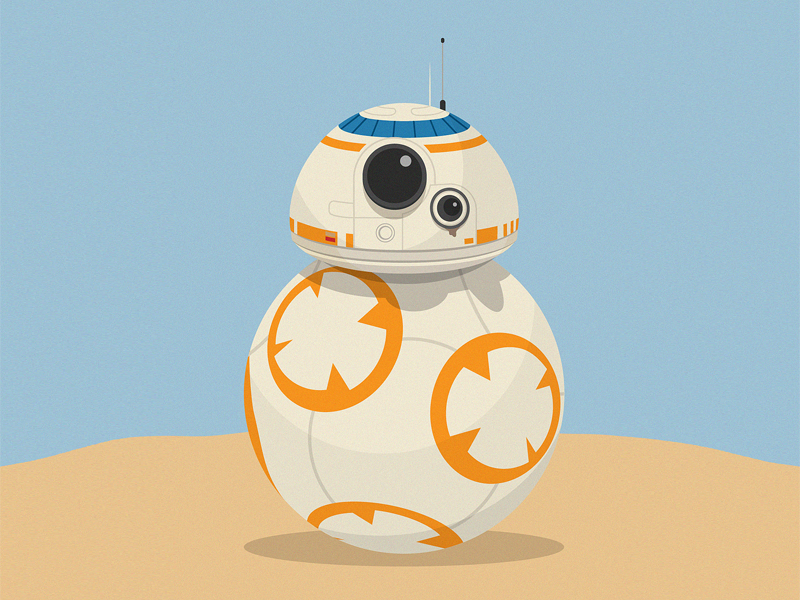 800x600 Bb 8 From Star Wars By Olly Gibbs