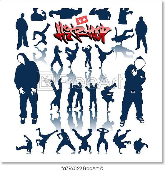 561x581 Free Art Print Of Dance Persons, Breakdance Vector. Dance Persons
