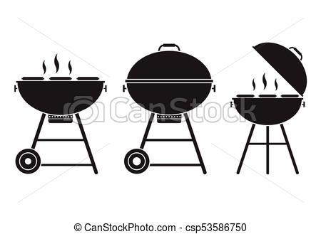 450x329 Barbecue Grill Vector Icon. Barbecue Grill Vector Icon In Outline