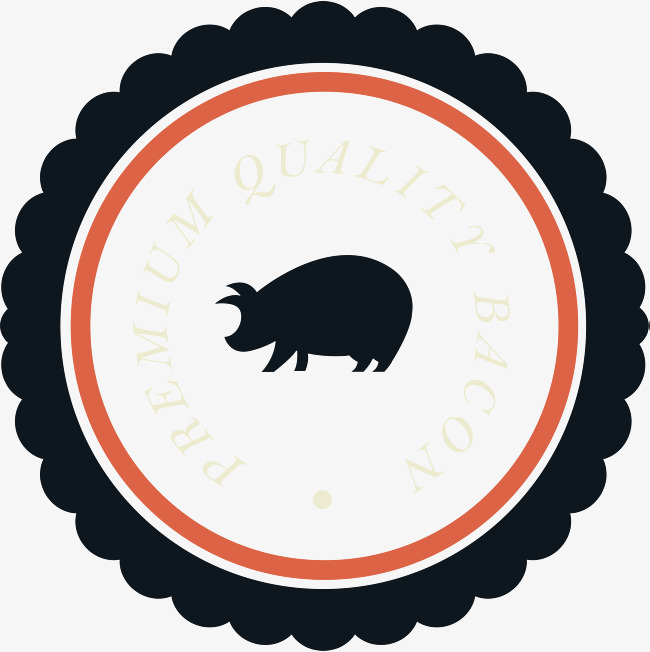 650x652 Black Pork Bbq Label, Black Vector, Bbq Vector, Label Vector Png