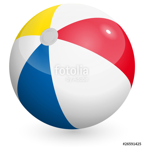 487x500 Beach Ball Vector Stock Image And Royalty Free Vector Files On