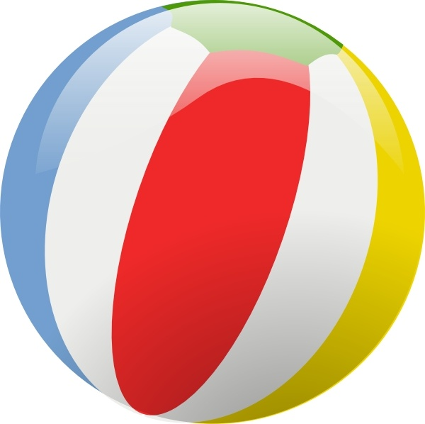 600x598 Beach Ball Clip Art Free Vector In Open Office Drawing Svg ( .svg