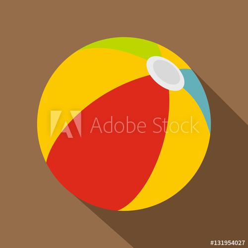 500x500 Beach Ball Icon. Flat Illustration Of Beach Ball Vector Icon For