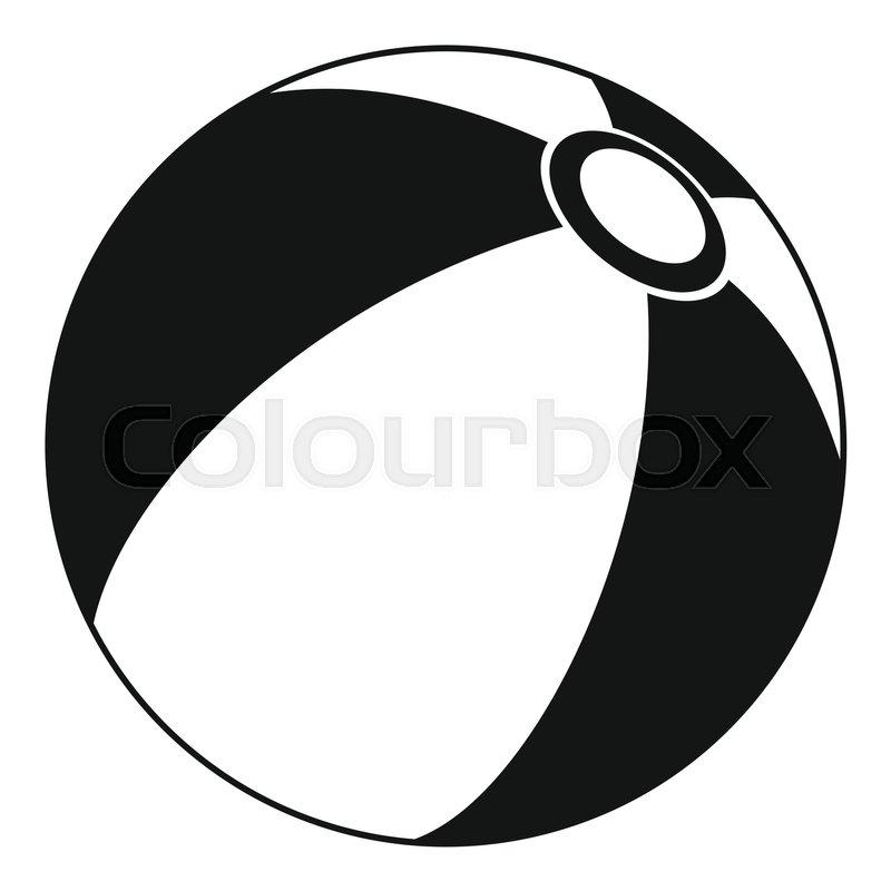 800x800 Beach Ball Icon. Simple Illustration Of Beach Ball Vector Icon For