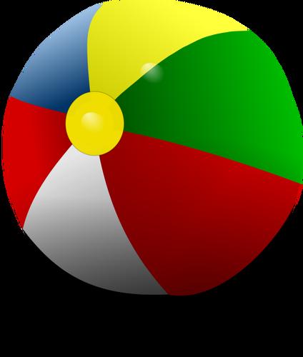 424x500 Beach Ball Vector Illustration Public Domain Vectors