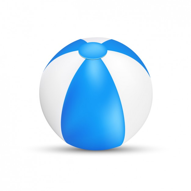 626x626 Blue And White Beach Ball Vector Free Download