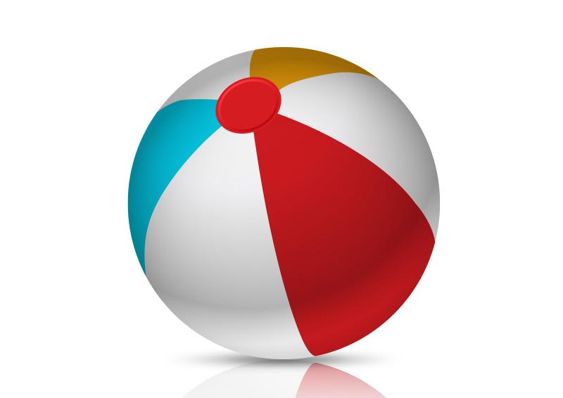 800x566 Colorful Beach Ball Free Vector