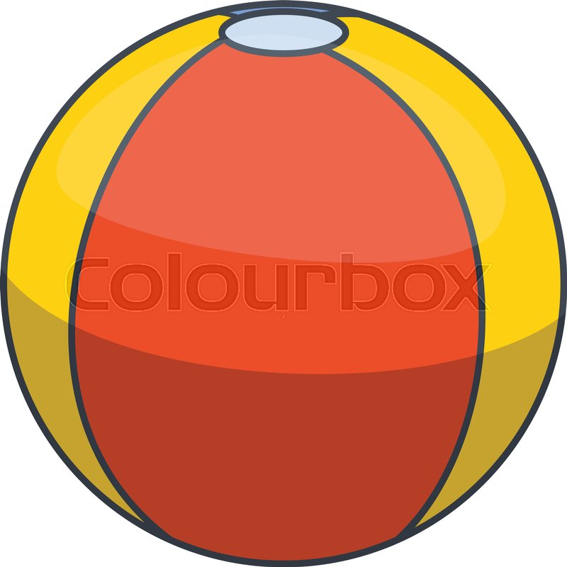 800x800 Colorful Beach Ball Icon. Cartoon Illustration Of Colorful Beach
