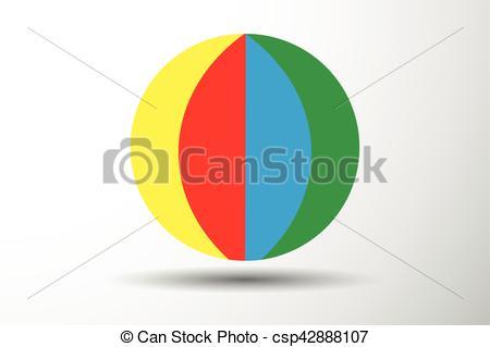 450x319 Colorful Beach Ball Vector Illustration.