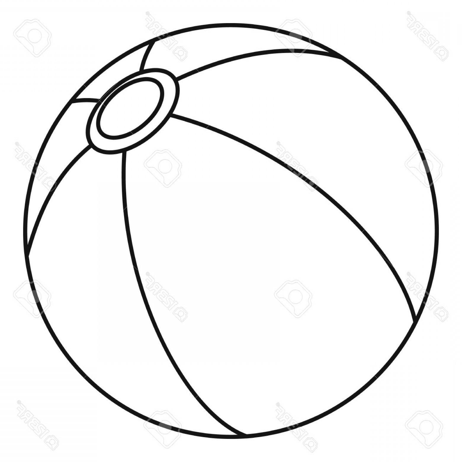 1560x1560 Photostock Vector Beach Ball Icon Outline Illustration Of Beach