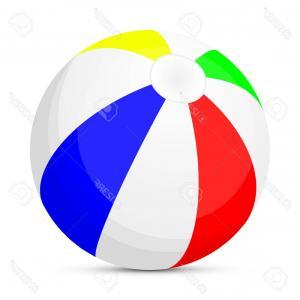 300x300 Photostock Vector Isolated Beach Ball Vector Art Illustration Of A