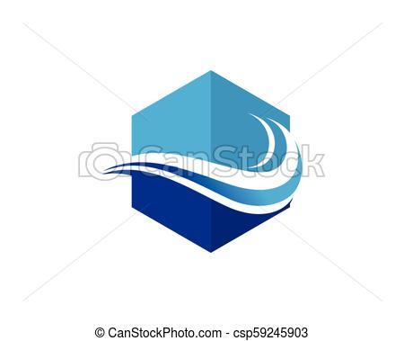 450x379 Wave Beach Logo. Wave Water Beach Logo And Symbols.