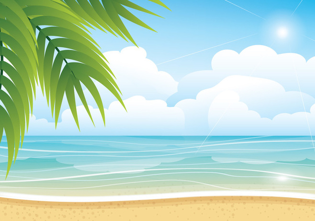 632x443 Tropical Summer Beach Vector Background Free Vector Download