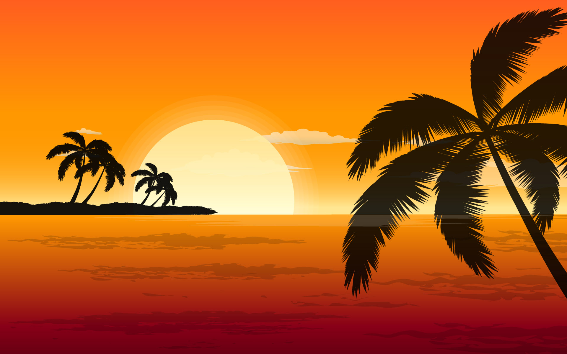 1920x1200 Beach Vector Hd Wallpapers Beach Vector Hd Desktop Wallpapers