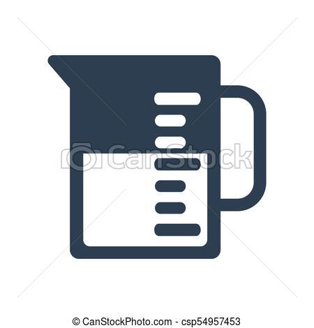 450x470 Beaker Icon On White Background. Vector Illustration.