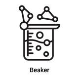 160x160 Beaker Icon Vector Isolated On White Background, Beaker Sign
