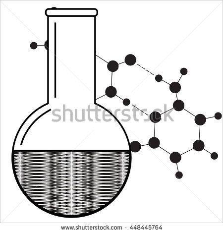 450x470 Beaker Icon. Chemistry Equipment. Abstract Laboratory Backdrop